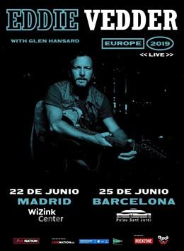 Eddie Vedder actuarà a Madrid i Barcelona el 22 i 25 de juny