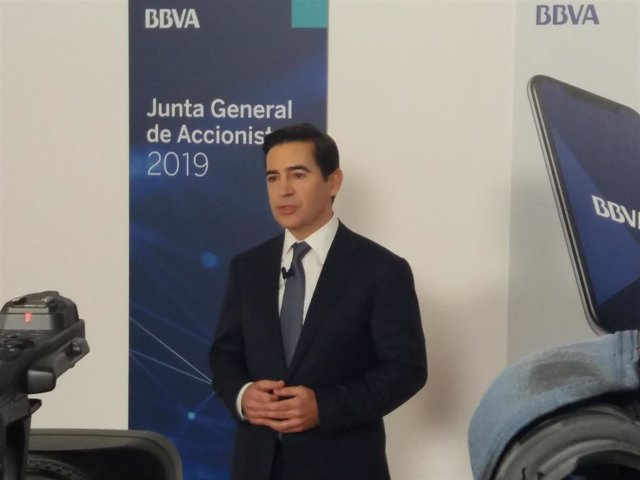 Primera reunión de accionistas de Carlos Torres como presidente del BBVA