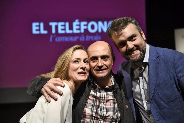 Presentación de la obra 'El teléfono' en el Teatro Real