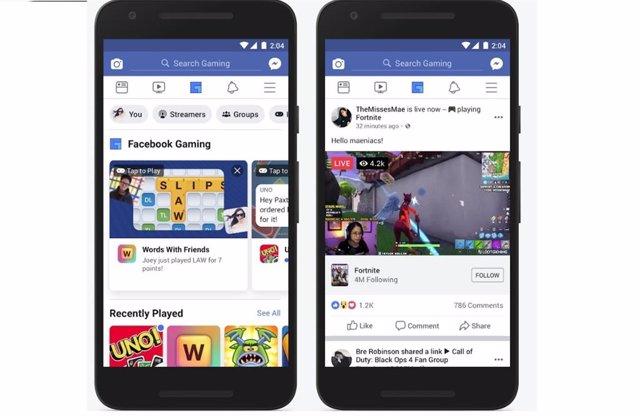 Facebook añade a su barra principal una pestaña que agrupa todos los juegos disp