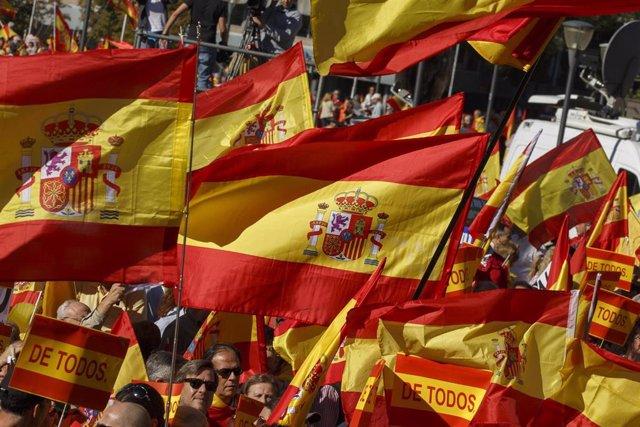 Manifestación en la Plaza de Colón de Madrid por la unidad de España