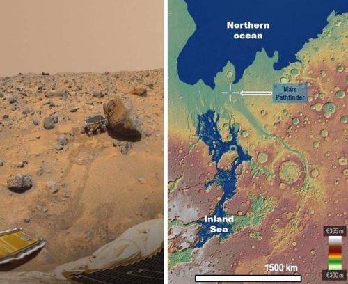 Un rover de la NASA exploró la costa de un mar antiguo marciano en 1997
