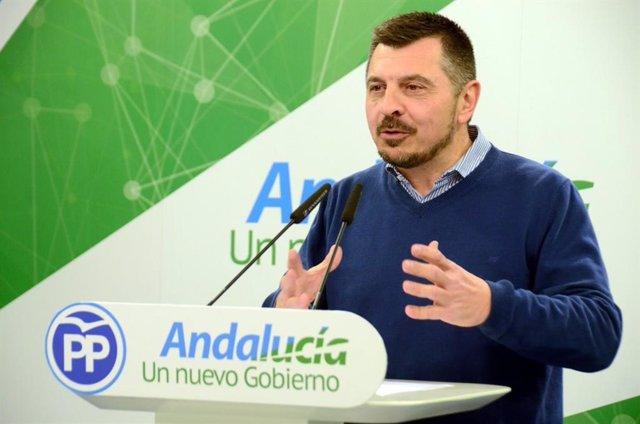 El vicesecretario de Organización, Formación y Electoral del PP-A, Toni Martín,