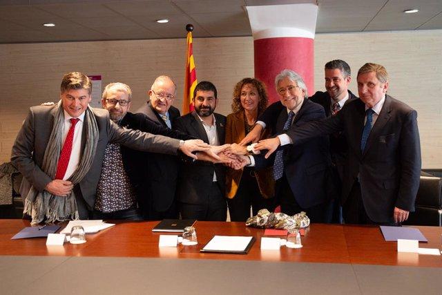 Presentació del preacord de representativitat empresarial de la Generalitat d
