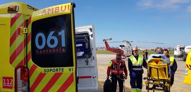 Rescatado un senderista con posible fractura de tobillo en Vega de Pas