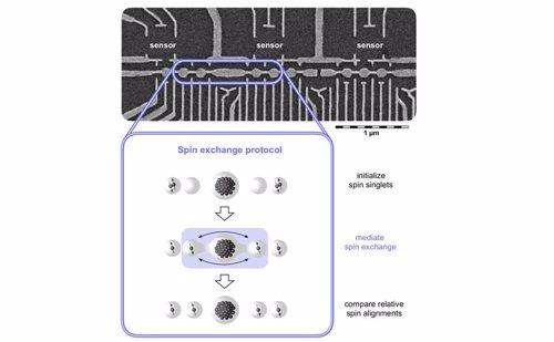 Intercambio rápido de información entre puntos cuánticos distantes