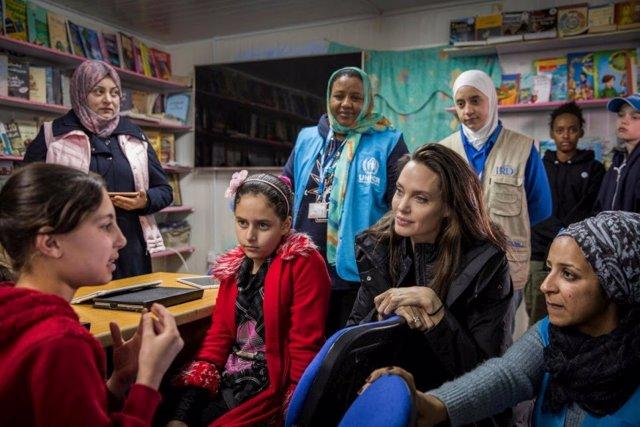 La declaración de Angelia Jolie en el octavo aniversario del conflicto sirio