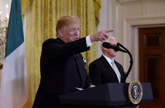 Trump greets Ireland Premier Varadkar at the White House