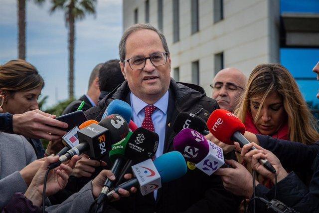 """Espanya.- Torra defensa mantenir els llaços: """"Mai limitaré la llibertat d'expre"""