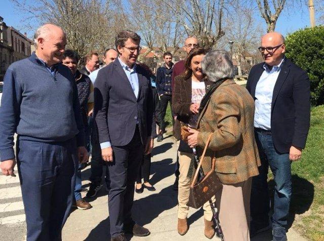 """Feijóo considera al PP como la """"única vía segura para que no gobierne Sánchez"""" y"""