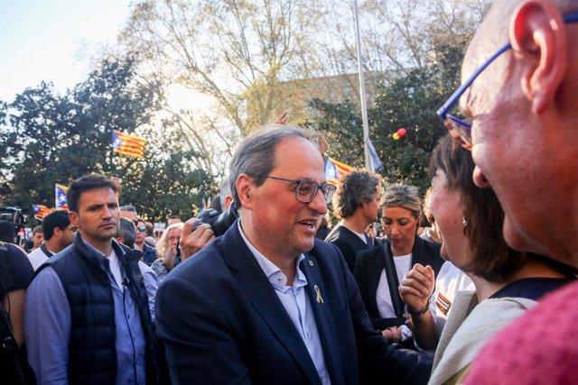 Manifestació independentista a Madrid contra el judici del 'procés'