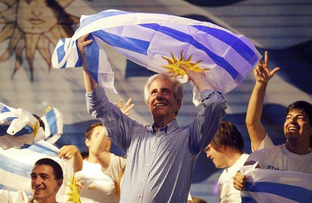 El candidato presidencial uruguayo Tabaré Vázquez