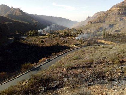 Controlado el incendio de Fataga (Gran Canaria)