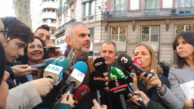 El portavoz de Cs en el Parlament de Catalunya, Carlos Carrizosa