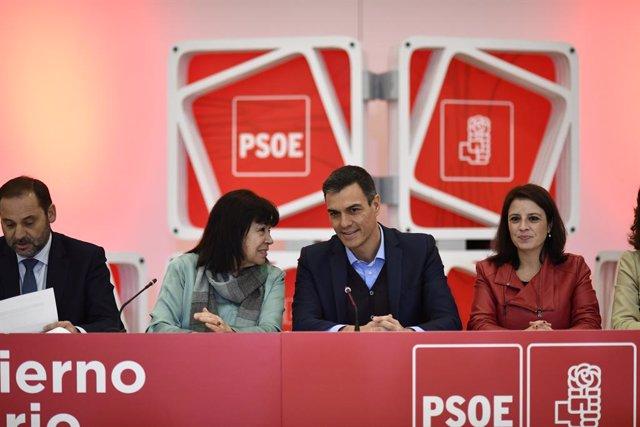 Reunió de l'Executiva Federal del PSOE per planificar la campanya de les gener