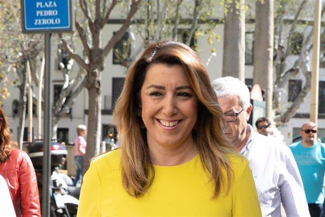 Susana Díaz este sábado en Sevilla