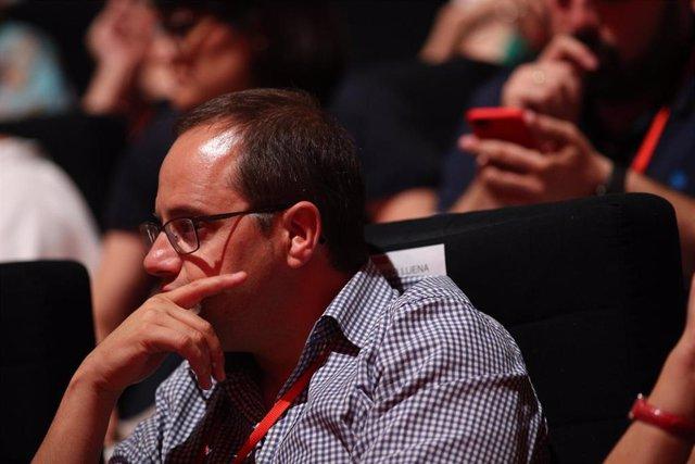 César Luena durante el Congreso del PSOE