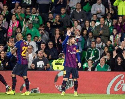 El Pichichi Messi levanta del asiento al Villamarín
