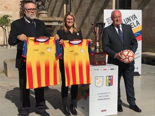 La selecció de futbol catalana i de Veneuela s'enfrontaran el 25 de mar en