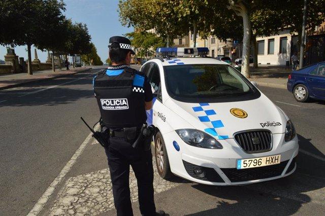 Agente de la policía local de Lleida