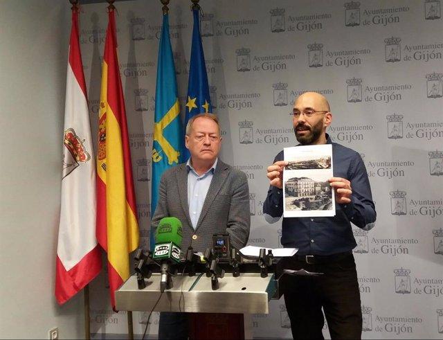 Gijón.- IU advierte de que el proyecto actual de reforma de Jardines de la Reina