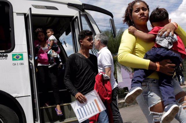 Venezuelan refugees arrive at UNHCR shelter in Manaus, Brazil May 4, 2018. REUTE
