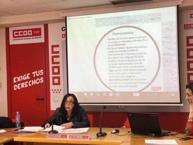 """CCOO carga contra el """"excluyente"""" cheque guardería con solo un 26% de rentas baj"""