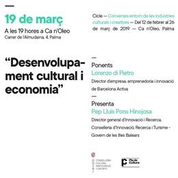 Ca n'Oleo acull aquest dimarts la conferencia 'Desenvolupament cultural i econom