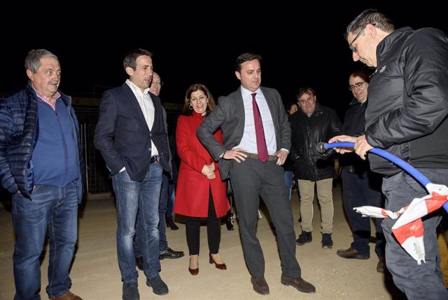 El presidente de la Diputación de Almería en unas obras hídricas en Mojácar.