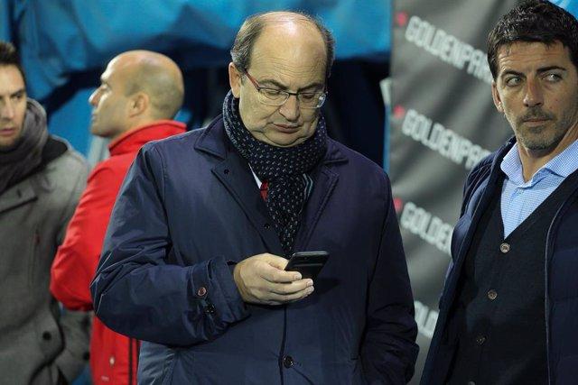 Sevillas  president Jose Castro Carmona before Copa del Rey match between Legan