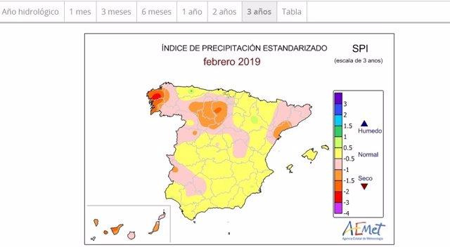 Galicia, buena parte de CyL y Cataluña siguen con sequía, que no se compensó con