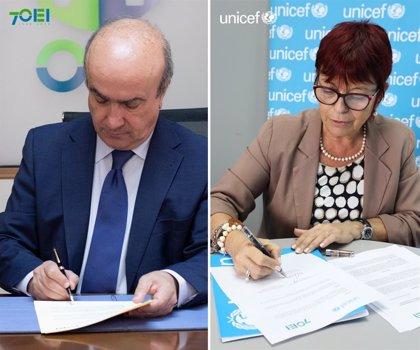 UNICEF y la OEI firman un acuerdo para fortalecer los sistemas educativos de América Latina y el Caribe