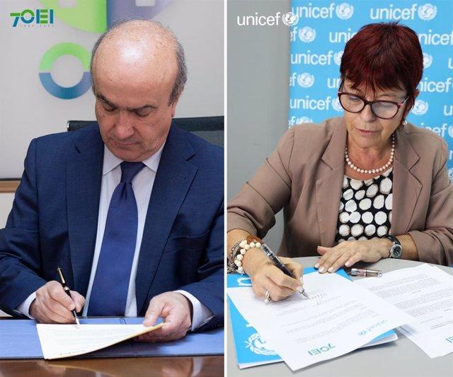 UNICEF y la OEI firman un acuerdo para fortalecer los sistemas educativos de Amé