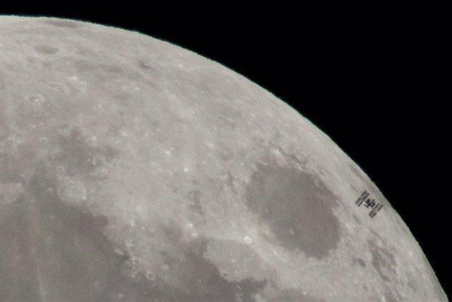 La Estación espacial vista desde la Tierra