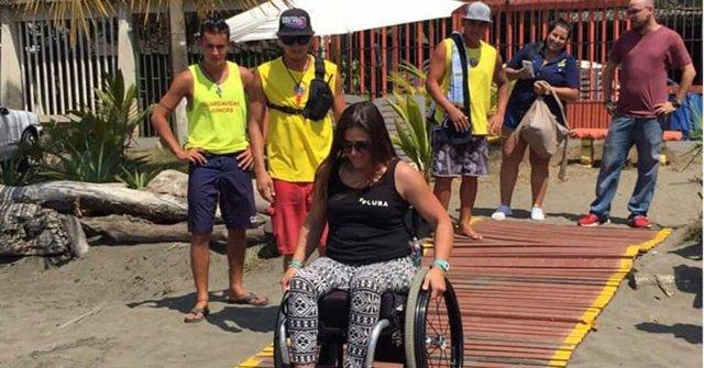 Costa Rica posee la primera playa de accesibilidad universal de Centroamérica