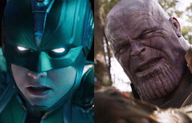 Capitana Marvel y Thanos