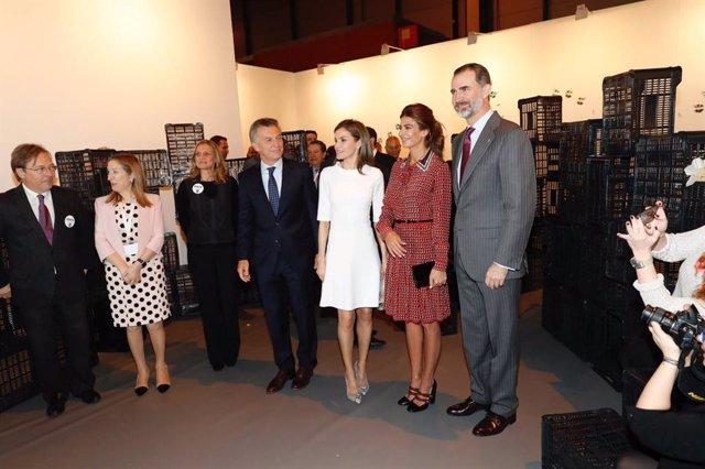 Los Reyes, Mauricio Macri y su esposa, Juliana Awada inauguran Arco