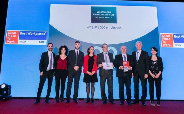 Economía/Motor.- Volkswagen Financial Services, una de las mejores entidades fin