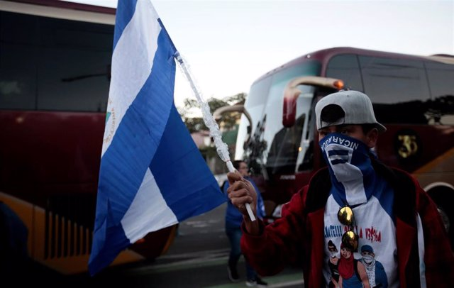 "A Nicaraguan expat living in Costa Rica takes part in the ""Caravan for Liberty a"