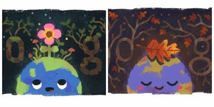 Google celebra la llegada del equinoccio de primavera y el de otoño con dos coloridos 'doodle'