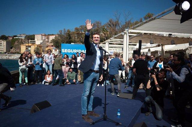 Pablo Casado clausura un acto del PP de Málaga