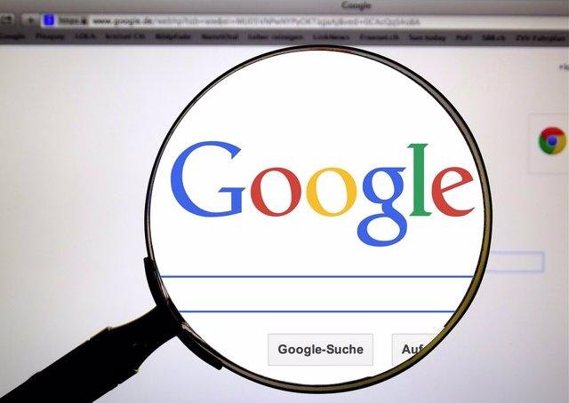 Imagen pantalla principal Google