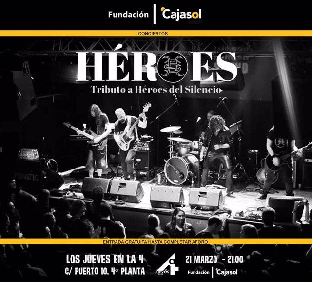 Huelva.- Cajasol.- Fundación Cajasol acoge un tributo a Héroes del Silencio dent