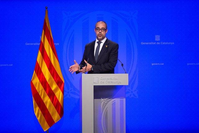 Roda de premsa del Govern de Catalunya després de la celebració del Consell Ejec