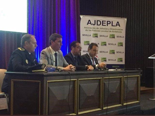 Sevilla.- Más de 150 policías locales de Andalucía se reúnen en Pilas para poten