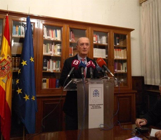 El president del Tribunal Superior de Justícia de Balears, Antonio J. Terrasa