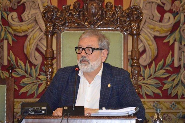 El alcalde de Lleida, Flix Larrosa