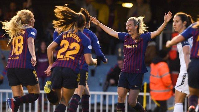 Fútbol/Liga Campeones (F).- El Barça encarrila el pase a semifinales tras golear