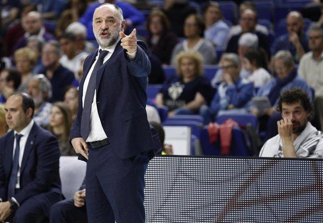 El entrenador del Real Madrid de baloncesto, Pablo Laso.