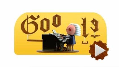 Google homenajea al compositor y músico Johann Sebastian Bach en su primer 'doodle' con inteligencia artificial